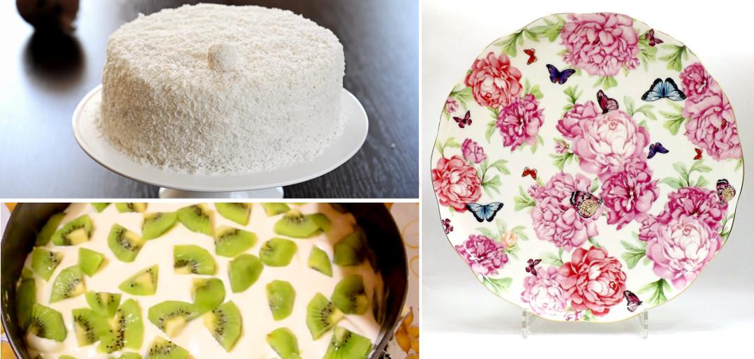 Кокосовый торт и тарелка от Миранды Керр и Royal Albert