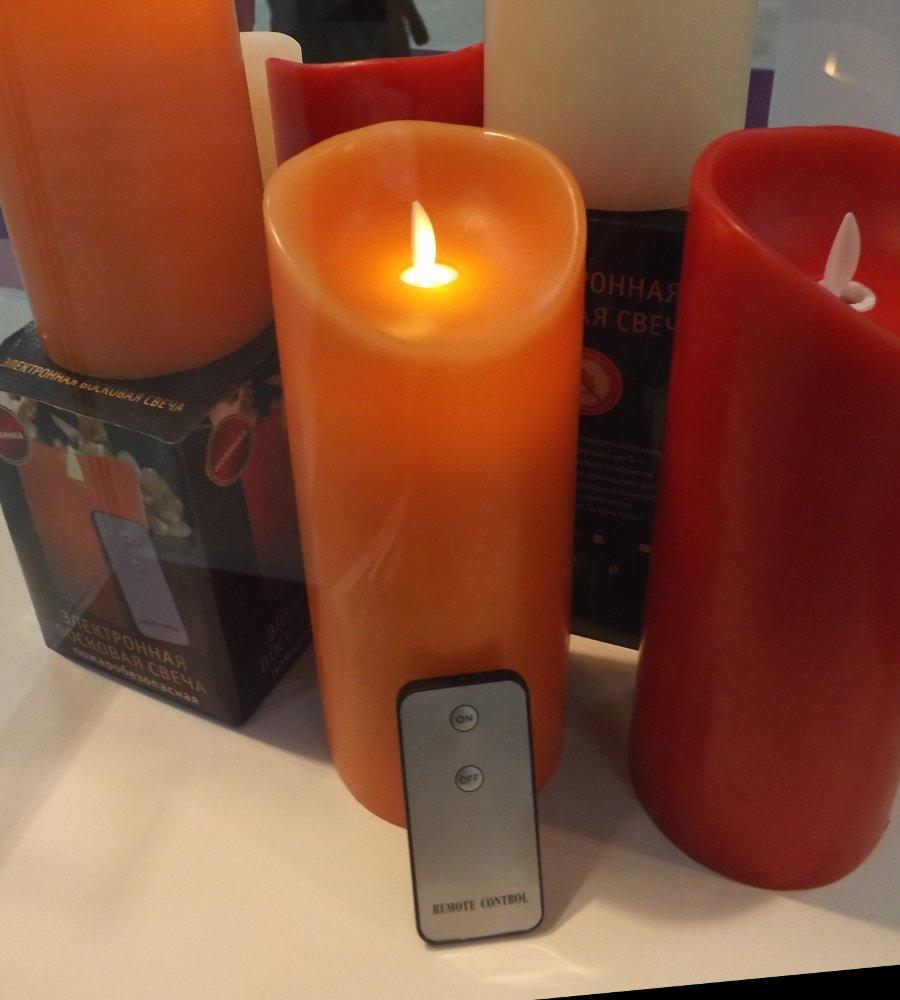 Имитация свечи из воска со светодиодами