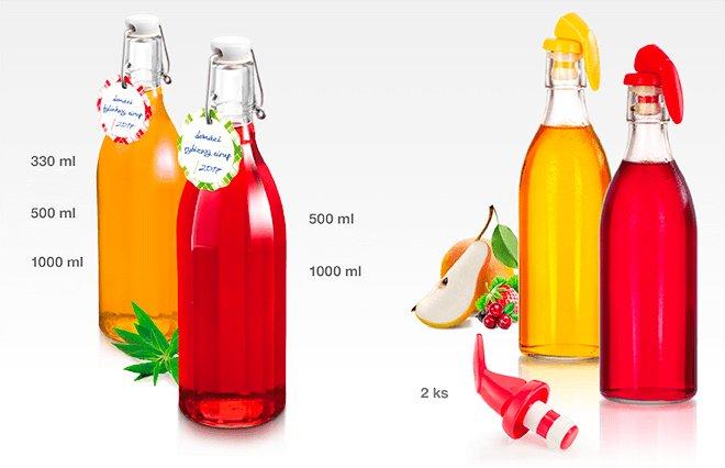 Бутылки и пробки с зажимами DELLA CASA для консервирования, представленные специалистами Tescoma в мае 2017 года