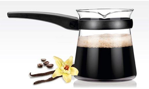Кофейная турка (джезва) со стеклянной колбой из ассортимента новинок Tescoma, представленных в феврале 2015 года