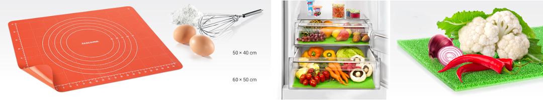 Коврик DELICIA SiliconPRIME для теста и 4FOOD для холодильника, от Tescoma