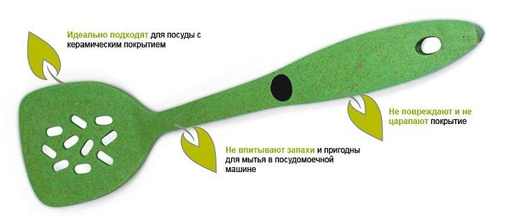 Лопатка из материала на основе бамбука и других натуральных компонентов от Beka