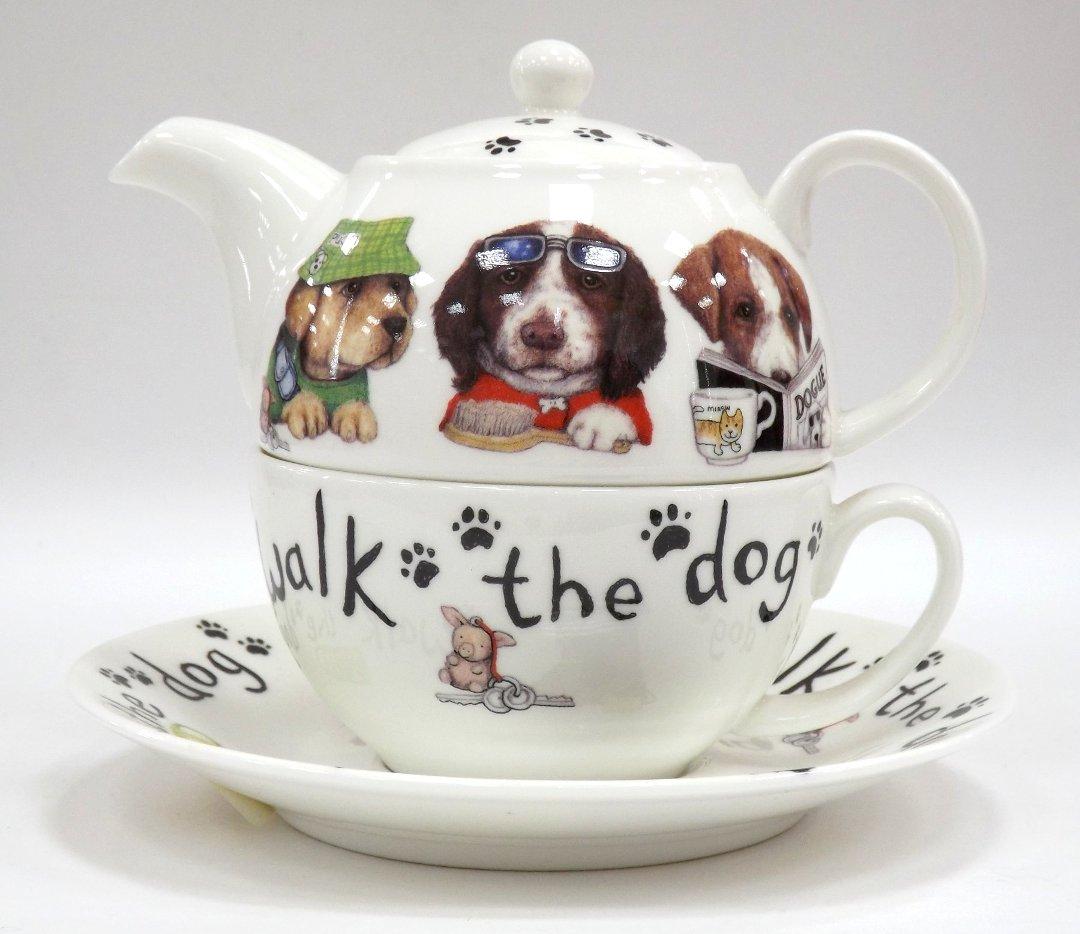 Фарфоровый чайный набор Собаки модники от Roy Kirkham из ассортимента магазина Posuda40.ru