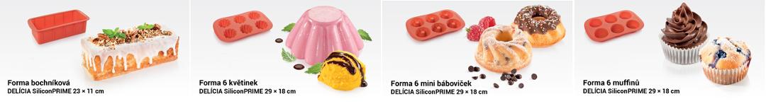 Силиконовые формочки для выпечки DELICIA SiliconPRIME от Tescoma