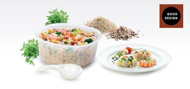 Набор PURITY для приготовления блюд с рисом в микроволновых печах, представленный специалистами Tescoma в июне 2017 года