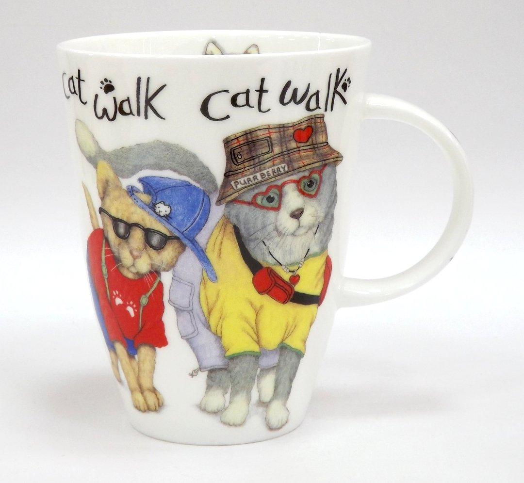 Фарфоровая кружка Коты-модники от Roy Kirkham из ассортимента магазина Posuda40.ru