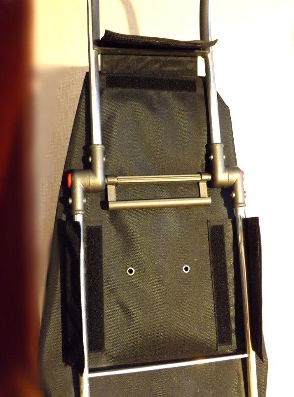 Сумка-тележка LOGIC RG PAC067azul от Rolser с расстёгнутыми клапанами-липучками для крепления сумки к шасси