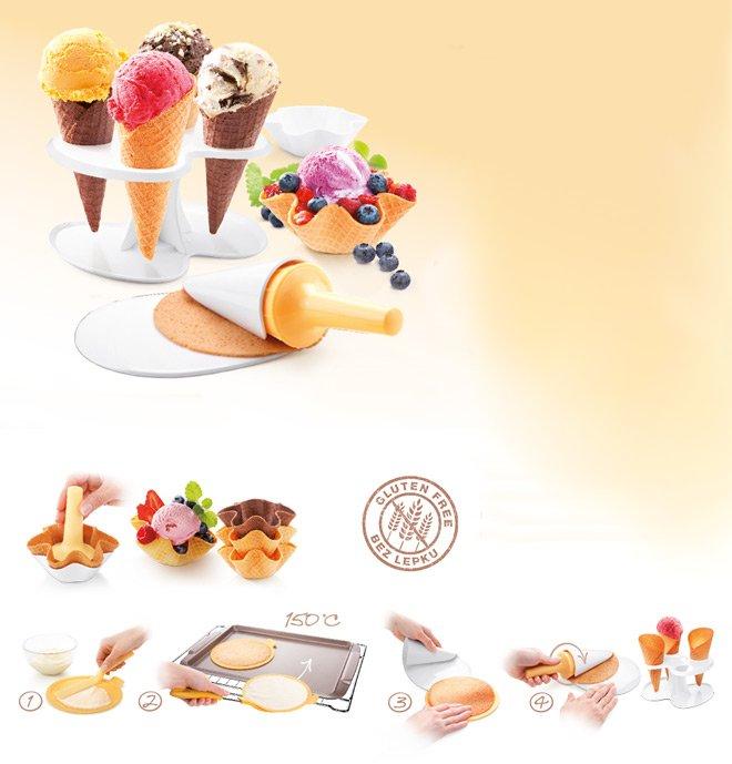 Набор для создания вафельных рожков и розеток DELLA CASA от Tescoma для мороженого, представленный в июле 2016 года